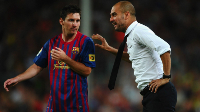 Lionel Messi and Pep Guardiola, Messi to Manchester