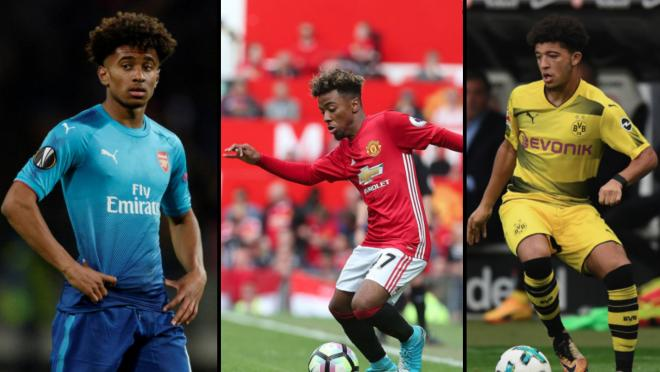 Angel Gomes, Reiss Nelson and Jadon Sancho Footwork