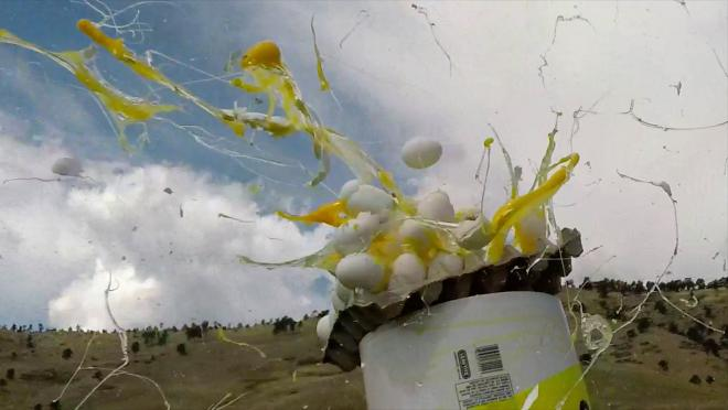 Smashing Eggs With A Soccer Ball