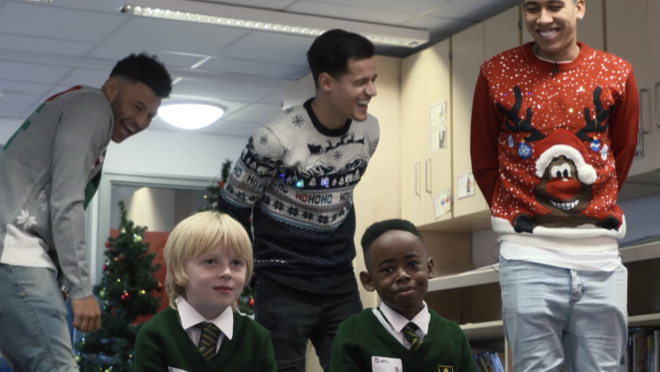 Liverpool Players Surprise Young Fans