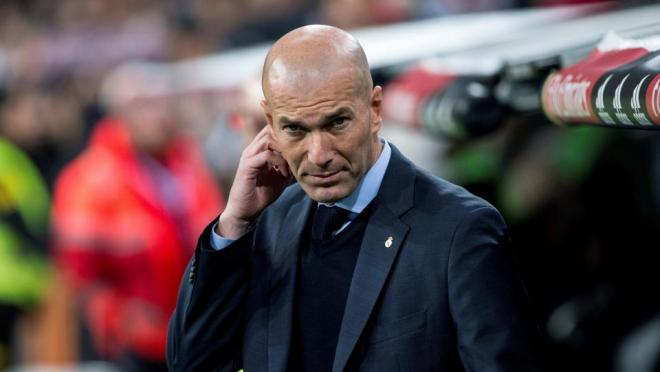 Zidane looks on a struggling Real Madrid team.
