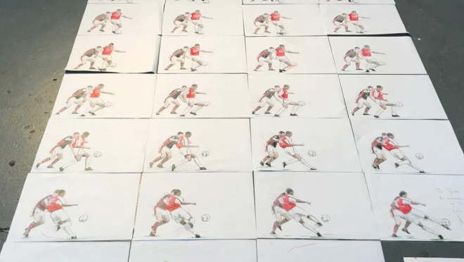 Thierry Henry Drawings