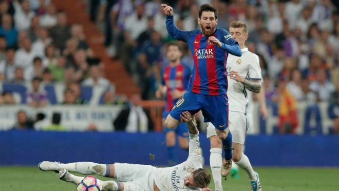 Sergio Ramos Tackles On Lionel Messi
