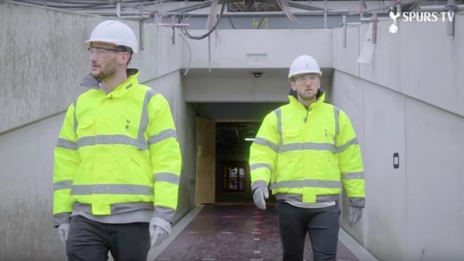 Harry Kane and Hugo Lloris visit Tottenham's new stadium