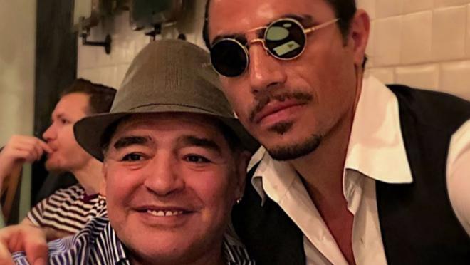 Maradona and Salt Bae