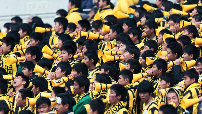 Japanese Soccer Crowd