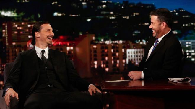 Zlatan Ibrahimovic on the Jimmy Kimmel show