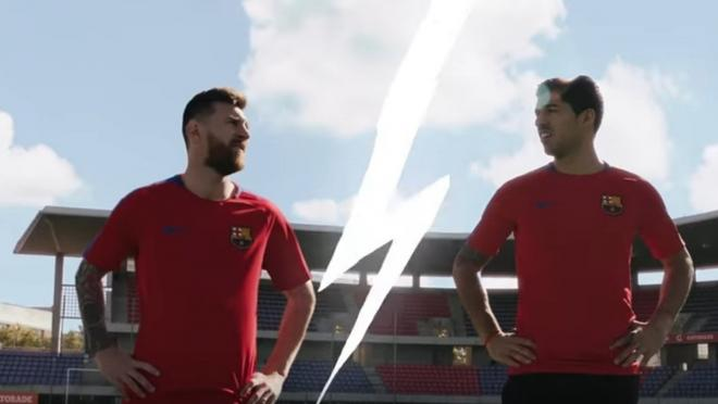 Lionel Messi and Luis Suarez new Gatorade commercial