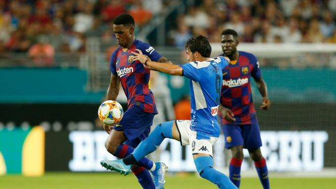 Highlights From Barcelona's Match Against Napoli In Michigan