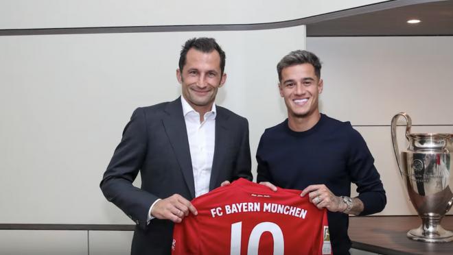 Coutinho's First Day At Bayern Munich