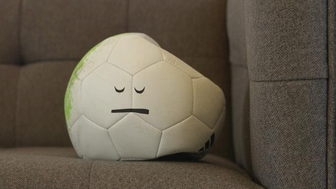 Our soccer ball is sad for the teams that didn't make it out of the group