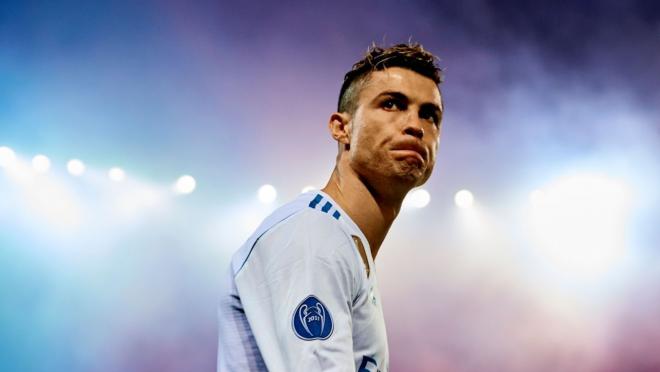 Ronaldo in the lights