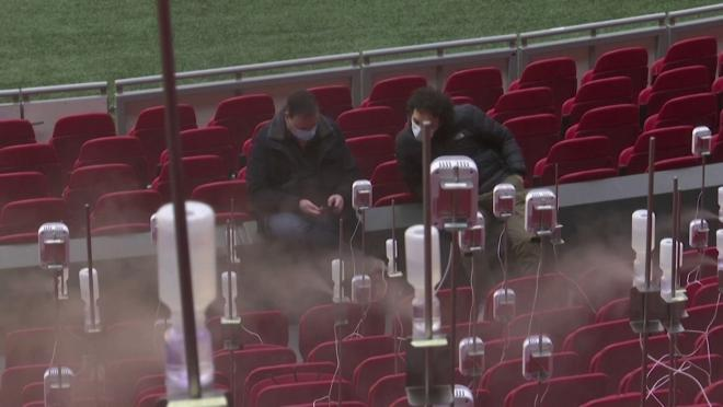 Scientists In The Netherlands Testing Spit Distance Inside Stadiums