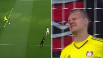 Bernd Leno is pissed.