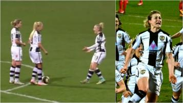 Notts-county-ladies-goal-ellen-white-arsenal-clever-free-kick-acting