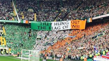 Old Firm Rivalry: Green Brigade Flag