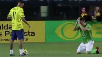 Neymar at the Chapecoense charity match
