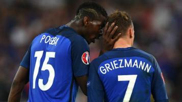 Paul Pogba and Antoine Griezmann