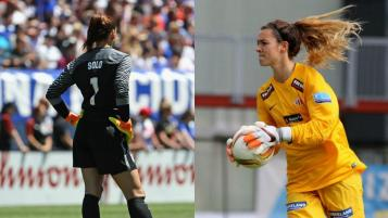 Hope Solo and Madalyn Schiffel