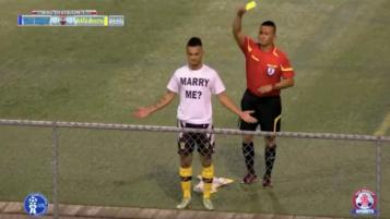 Player is booked after proposing