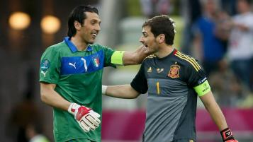 Iker Casillas and Gianluigi Buffon