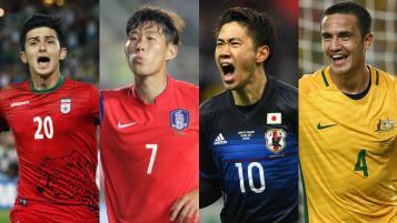 Iran, South Korea, Japan and Australia