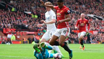 Marcus Rashford Dive Versus Swansea