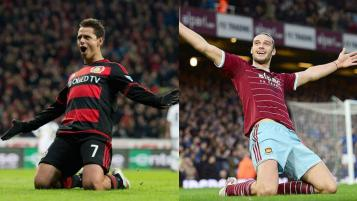 Chicharito and Andy Carroll
