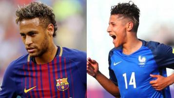 Neymar and Amine Harit
