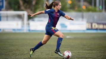 FC Barcelona women's team dominating opponents.