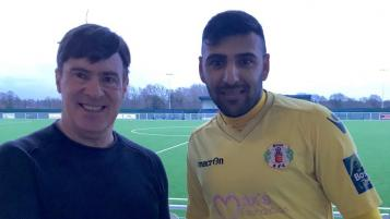 Ryan Mahal right back in goal