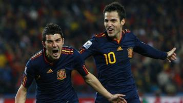 Cesc Fabregas and David Villa World Cup recall