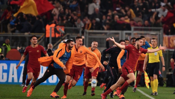 Manolas Goal Celebration