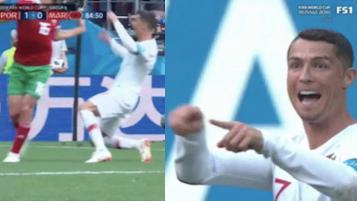 Cristiano Ronaldo dive vs Morocco