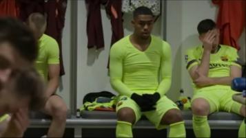 Liverpool Barcelona dressing room