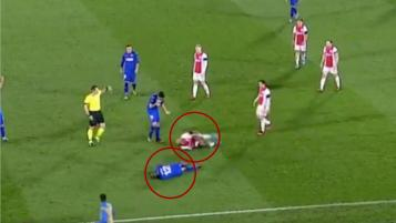 Ryan Babel fake injury