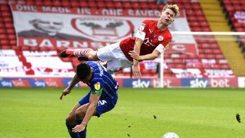 Antonee Robinson tackle vs Barnsley