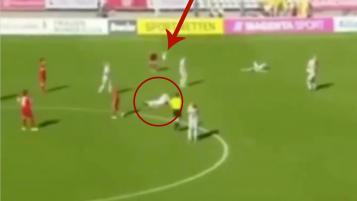 goalkeeper punt goes wrong