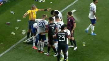 Bottles thrown at USA vs. Mexico game