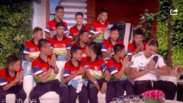 Thai Soccer Team on Ellen