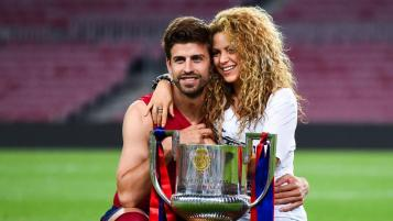 Athletes dating celebrities: Shakira and Gerard Piqué found love on the soccer field.