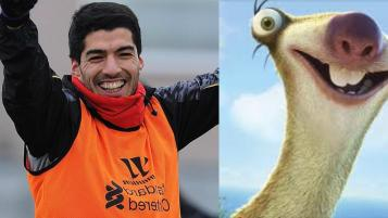 Luis Suarez as Sid from The Ice Age