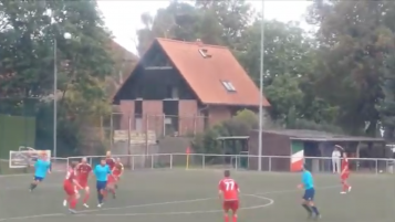Volley Off Of A Cross Bar Rebound