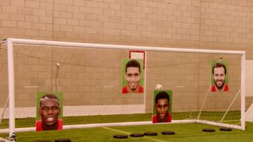 Pogba, Smalling, Rashford and Mata in the shootout challenge