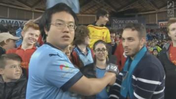 Aaron Chen Hilarious Halftime Interview