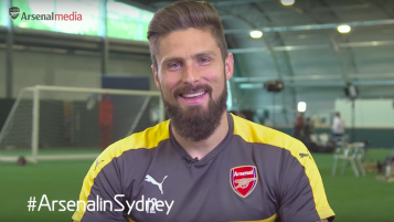 Arsenal players try Australian accents