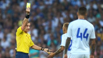 The referee gave out 36 red cards in one match