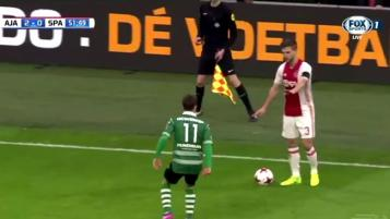 Veltman pretends to stop game for injury, sprints to goal instead