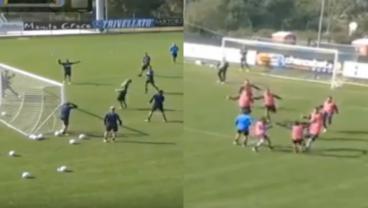 Hellas Verona Training Session Features The Greatest Rabona Goal Ever Scored