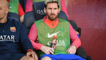 Did Messi Puke On The Bench This Weekend?